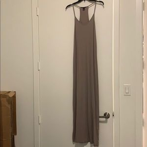 ✅🔥🔘FOREVER 21 Taupe Sexy Maxi Dress🔘🔥